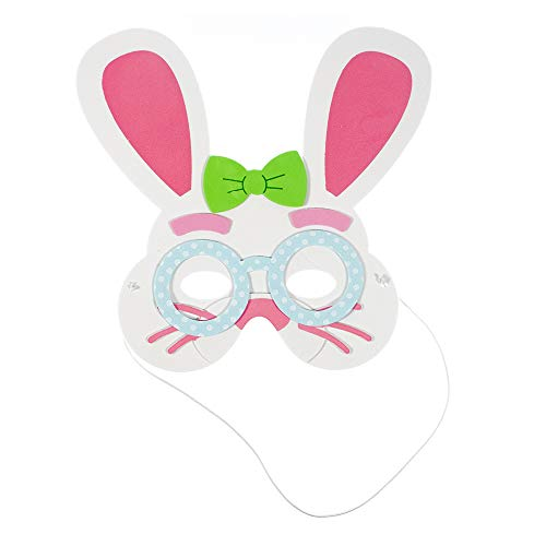West Coast Paracord Easter Bunny Masks Craft Kits for Self-Adhesive Foam Shapes to Make Personalized Characters Makes 12