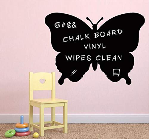 Aoteyar Decorate Life Butterfly Chalkboard Wall Sticker Vinyl Decal Decor Removable PVC Decoration for Nursery Classroom Kids Room