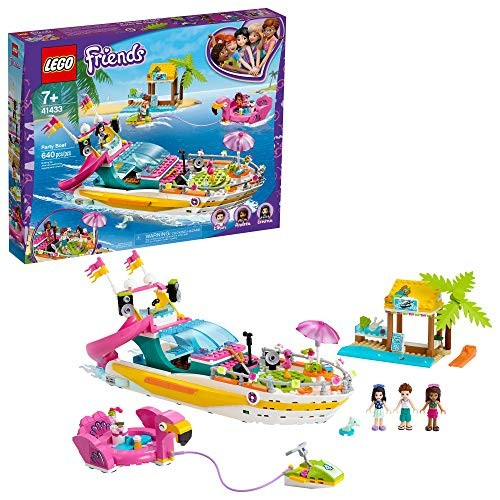 LEGO Friends Party Boat 41433 Building Kit Including LEGO Friends Emma Andrea and Ethan