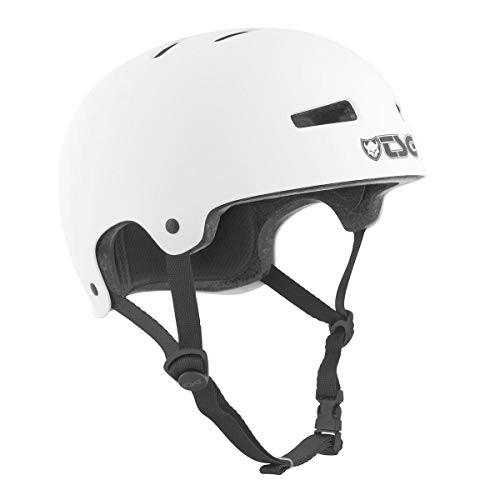 TSG Evolution Skate & Bike Helmet in Satin White w/Snug Fit & Triple Cert