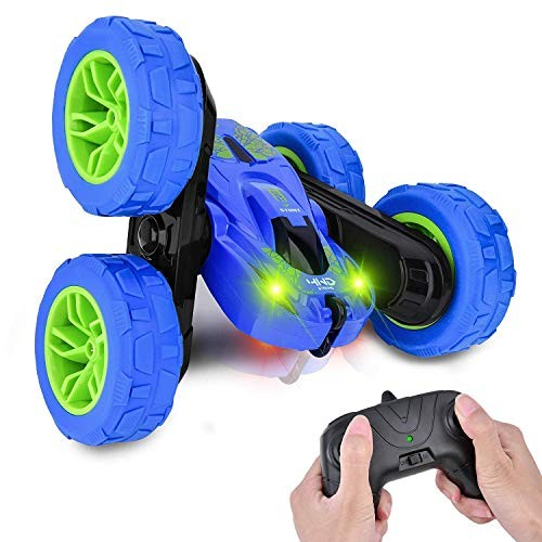Wahahay Remote Control Car 4WD RC Stunt Cars Toys for Kids Double Sided Rotating