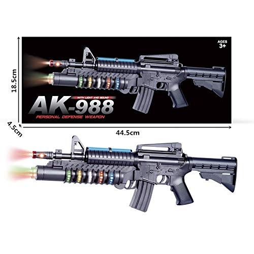 JOYSAE 22 Inch The Most Popular Gifts for Children Special Force AK-988 Toy Rifle Features Dazzling Electric Light Amazing Electronic Sound & Unique Action