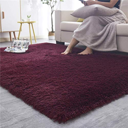CarPet Household Soft Fluffy Mat Suitable for Bedroom Living Room Childrens Room Decoration Color : Gray, Size : 4060cm