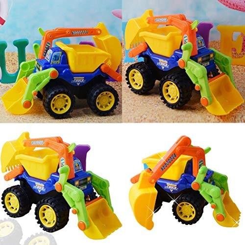 Dongtu 1Pcs Children Beach Inertia Toys City Engineering Excavator Model Toy Play Vehicles