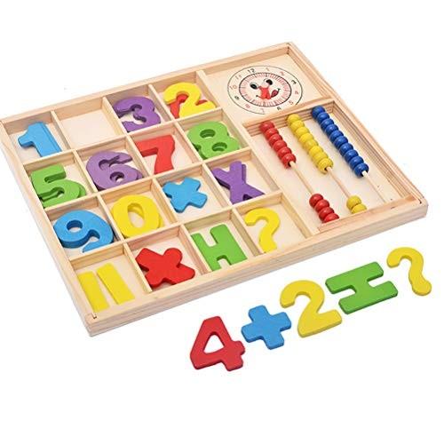 AGAWA Children Learning ToysDigital Boxes Wooden Building Blocks Toys for Preschool Kid Best Gift