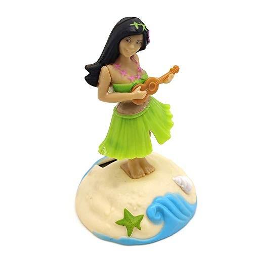 Rivetino Hawaii Girl Posing Dashboard Doll Hula Solar Powered Dancing