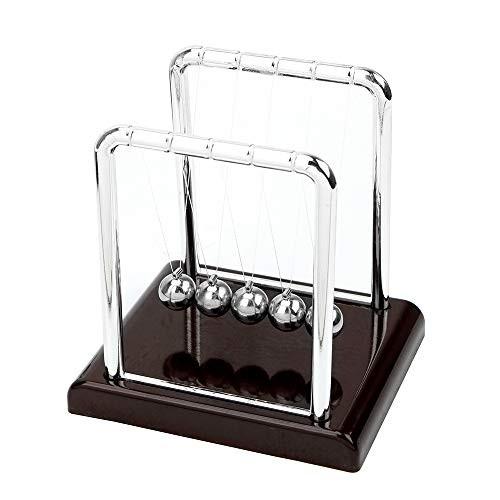 LengedHope Newton Pendulum Balance Balls Science Teaching Physical Desk Ornaments Small Red