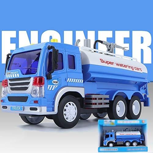 xolye Large Sprayable Sprinkler Model Alloy Engineering Car Toy Sound and Light Back Children Effect Metal Inertia