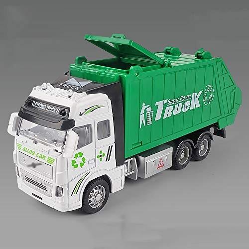 xolye Alloy Garbage Truck Toy Simulation Sanitation Vehicle Model Children's Crash-Proof Metal Car Light Effect Engineering
