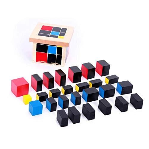 Montessori Aids Education Wooden Toys Building Block Binomial Trinomial White