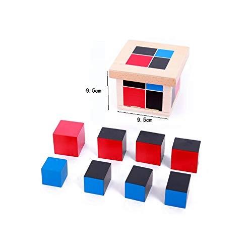 Montessori Aids Education Wooden Toys Building Block Binomial Trinomial Black