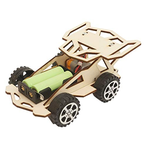 HuiKai Technica DIY Motorized Sports Car Kids Science Experiment Material Kits Toys GIF