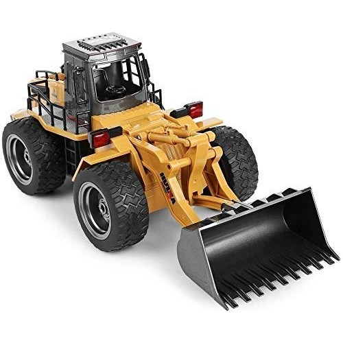 Pkjskh 1 18 Remote Control Car Model Toy Electric Hook Excavator Engineering Vehicle Boy Simulation Alloy Four-Wheel Drive Metal Bulldozer Rechargeable Best Toys for Kids