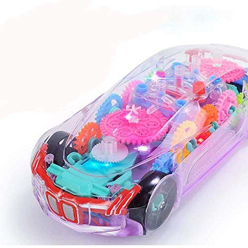 Noetoy Toys Cars for Toddler Musical & Lights Transparent Electric Toys Car with Universal