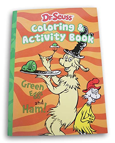 Dr Seuss Green Eggs And Ham Coloring Activity Book 80 Pages Educational Toys Planet