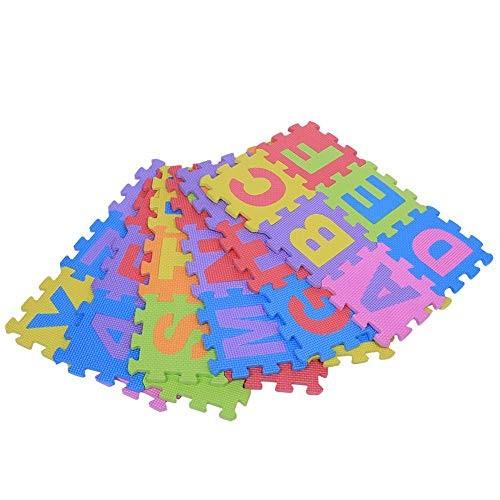 36pc Set Baby EVA Foam Puzzle Play Mat Kids Rugs Toys Carpet for Childrens Interlocking Exercise Floor Tiles Each15 x 15cm Send Color by Random
