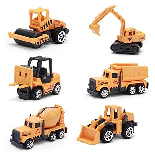 Ierkag Children Funny Inertial Alloy Model Toy Cars Pull Back Engineering Car Set Play Vehicles Toys