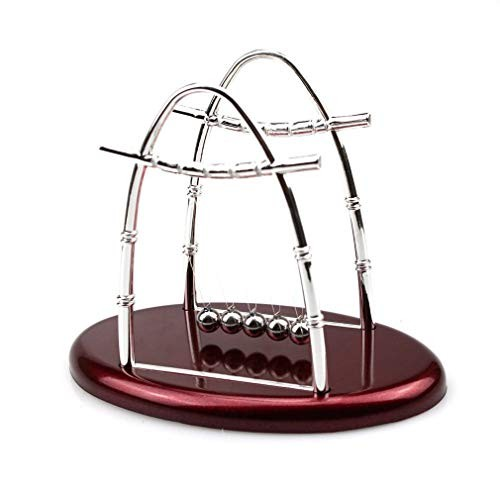 Wonfirst Newton Cradle Ball Physics Science Pendulum Steel Balance For Home Office Toy Decor Arched
