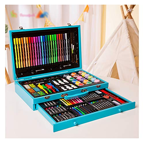 Art Supplies Set Drawing Sets 130 Water Colour Pencils For Adult Colouring Books Or Kids School Coloring Beginner Kid Gift Color Blue Educational Toys Planet