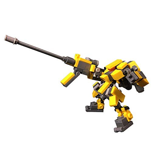 ECLENYES 101Pcs Moc Small Ranged Sniper Assistance Mecha Assault Force Model Assembly Particle Building Blocks Educational Toy Set The Product is not Made and Sold by Lego – Yellow