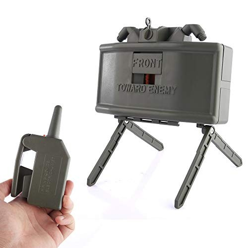 Skywin Toy Claymore Mine for Nerf War and Airsoft – Trip Wire and Remote
