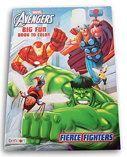 The Avengers- Hulk Ironman Thor Jumbo Coloring & Activity Book Games Puzzles Mazes Sheets Fierce Fighters- 96 Pages