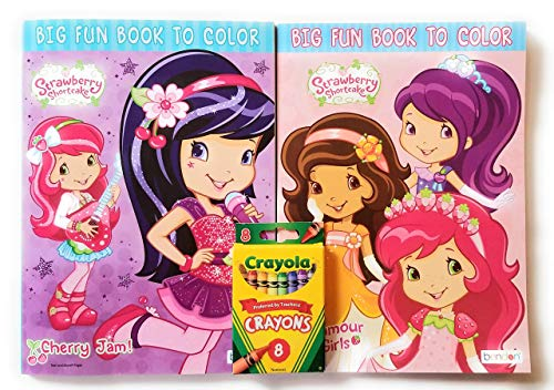 - Strawberry Shortcake Coloring Book Bundle - Includes 2 Activity Books  Crayola Crayons 8 Pk Fun Busy Time Tear & Share Pages - Educational Toys  Planet