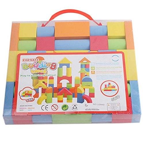 Oliwui Child Mini Castle Building Blocks Geometric Shape Educational Toys Game Girls