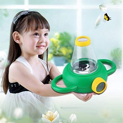 Kekailu Toy Magnifying GlassTwo Way Bug Insect Observation Viewer Kids Toy Magnifier Magnifying GlassGreen