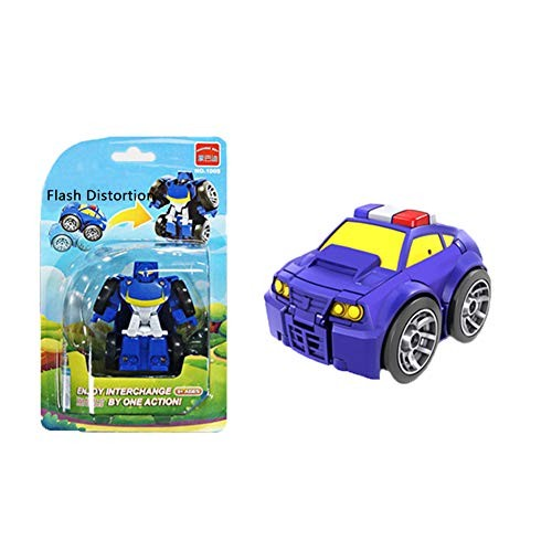 JAMOR Mini Car Robot Pocket Toy Transformable Toy Car Car RobotToy Car Parent-Child Toys