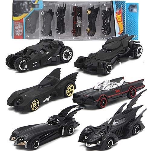 BeesClover 6PCS/Sset Bat-Mobile Alloy Car Model Toy Vehicle Combination Children's Car Toy Set Interesting