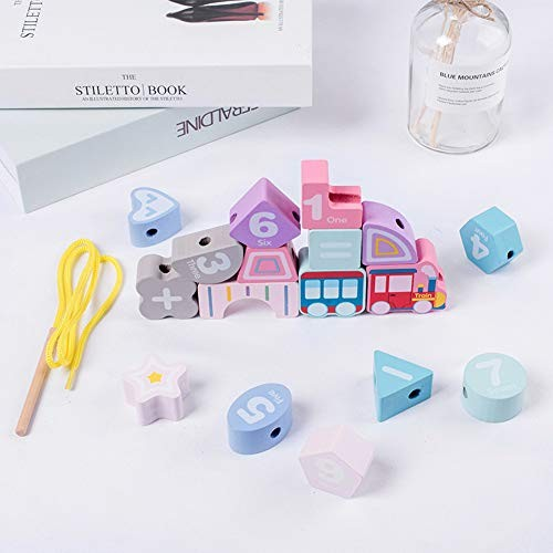 Alician Baby Beaded Educational Toys Handmade Wooden Beads Building Blocks