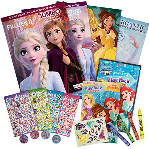 Mr Comic Disney Frozen Princess coloring set includes stickers colors and stampers Perfect for kids toddler