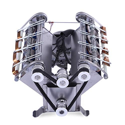 PeleusTech V8 Engine Model Kit High Speed Electromagnetic 8 Cylinder Car for Teaching Gift