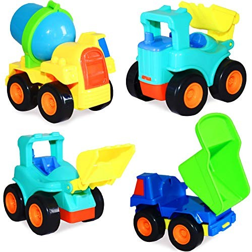 Planet of Toys Friction Powered Construction Vehicles Toy Tuck Cars for Kids | JCB