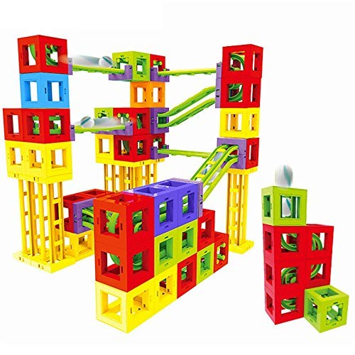Blocks Toys Creativity Toy for Preschool Toddlers Tiles Building 73 PCS Wooden Cube Color Multi-Colored Size 73PCS