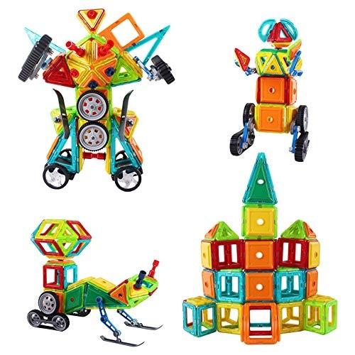 Blocks Toys Plastic Building Tiles Set Creativity Toy for Preschool Toddlers 200 PCS Wooden Cube Color Multi-Colored Size 106PCS
