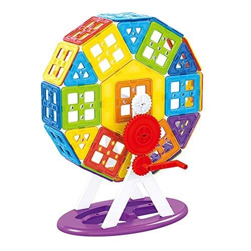 Blocks Toys Building Tiles Set Creativity Toy for Preschool Toddlers 152 PCS Multi-Colored Wooden Cube Color Size 68PCS