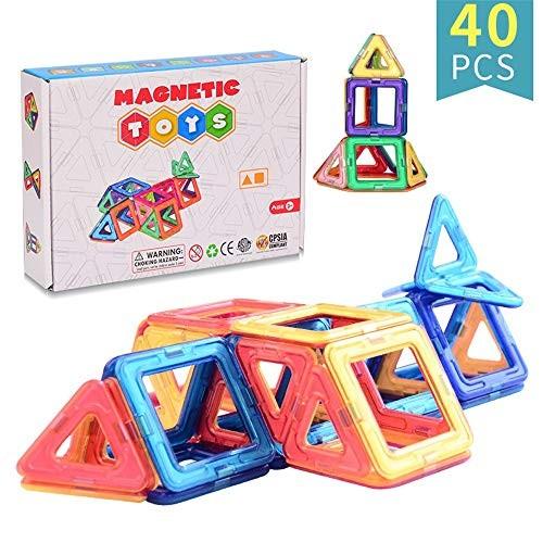 Blocks Toys Building Tiles Set Plastic Creativity Toy for Preschool Toddlers 40 PCS Wooden Cube Color Multi-Colored Size 40PCS