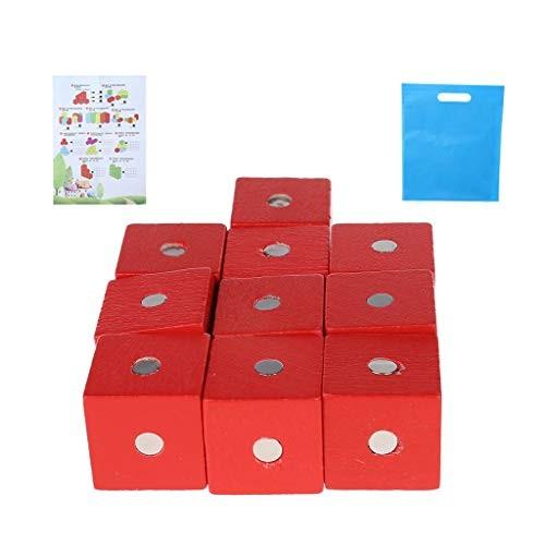KOVIPGUMagnetic Building Blocks Cube Wooden Toys for Kids Assembling