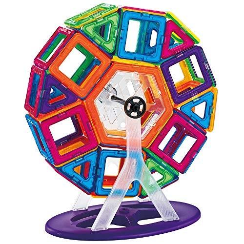 Blocks Toys Multi-Colored Building Tiles Set Creativity Toy for Preschool Toddlers 120 PCS Wooden Cube Color Size 120PCS