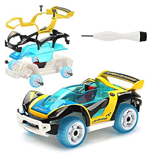 Pull-Back Toy Cars Take Apart Race Car DIY Car Assembly Toy Tool Kit Build
