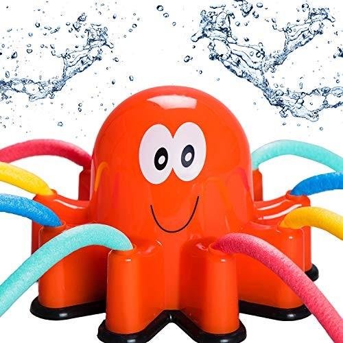 Atlasonix Outdoor Water Sprinkler Spray for Kids – Cute Backyard Sprinkler Toy with Wiggle