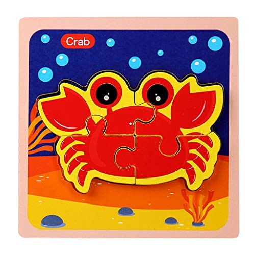 Mifelio Wooden Puzzle Building Block Toy Jigsaw Puzzles Game for Adults and Kids multicolorG
