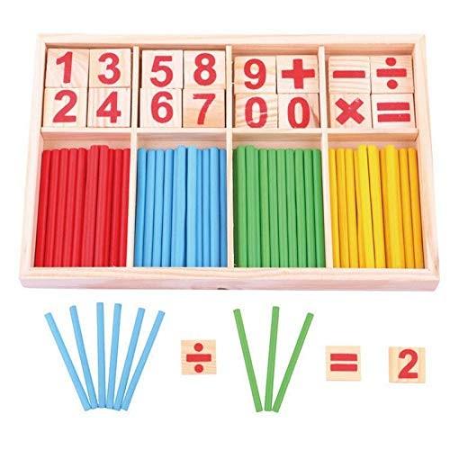 Baby Toys Counting Sticks Education Wooden Building Intelligence Blocks Montessori Mathematical Box Child Gift