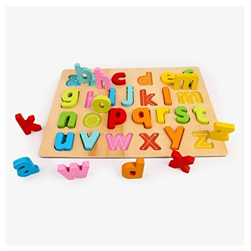 Polwer Building Block Toys Kids Baby Alphanumeric Wooden Board Alphabet Number Graphical Sorting Stacking Blocks Enlightenment Jigsaw Puzzles for Toddlers C