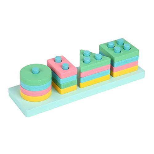 Building Blocks Toy Geometric Education Toys Wooden for Home Early Learning
