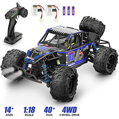 Remote Control Car1 18 Scale RC Racing High Speed Car24GHz Road Monster Truck Included 2 Rechargeable Batteries4WD All Terrains Waterproof Drift Off-Road VehicleToy for Boys Teens Adults