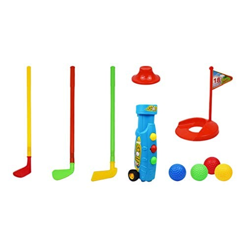 NUOBESTY Plastic Golf Toys Set Golf Game Children Educational Fun Sports Toys for Toddlers