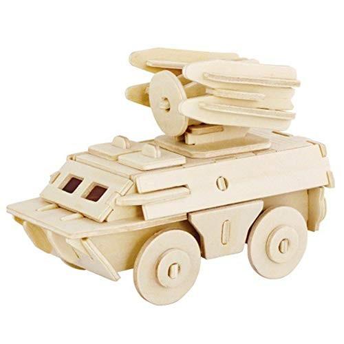 Aoile 3D DIY Assemble Wooden Transportation Building Blocks Puzzle Toy for Kids 261405